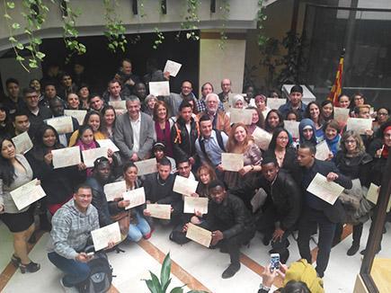 Lliurament dels certificats del Programa de Reincorporació al Treball 2016