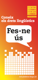 Campanya de difusió dels drets lingüístics dels ciutadans