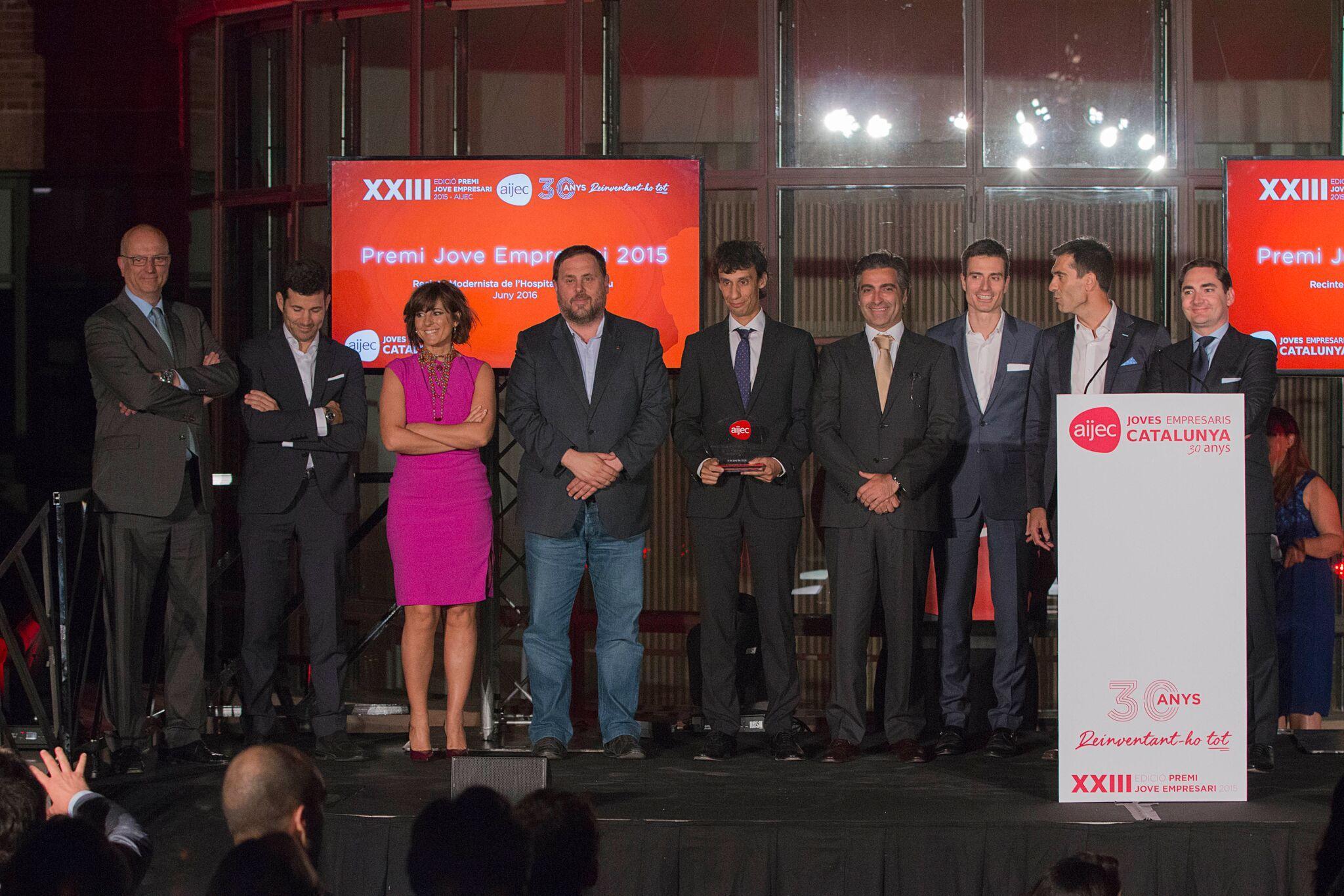 L'AIJEC lliura el Premi Jove Empresari 2015
