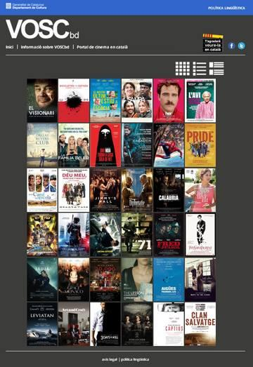 Entra en servei una base de dades en línia per consultar les pel·lícules subtitulades en català