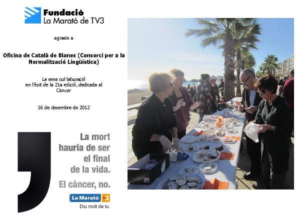 El Voluntariat per la llengua, amb la Marató de TV3