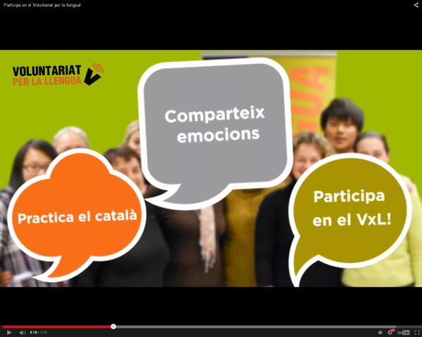 Participants en el VxL d'arreu de Catalunya promouen la participació en el programa a través de cinc vídeos