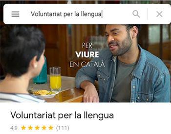 El Voluntariat per la llengua, valorat amb un 4,9 sobre 5 a Google