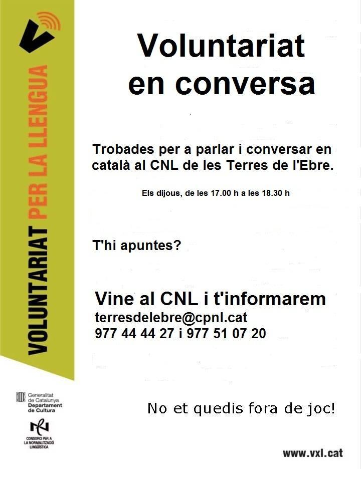 'Voluntariat en conversa', un espai de trobada, lectura i activitats en català a Tortosa