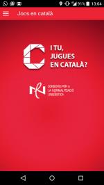Estrenem app: Jocs en català
