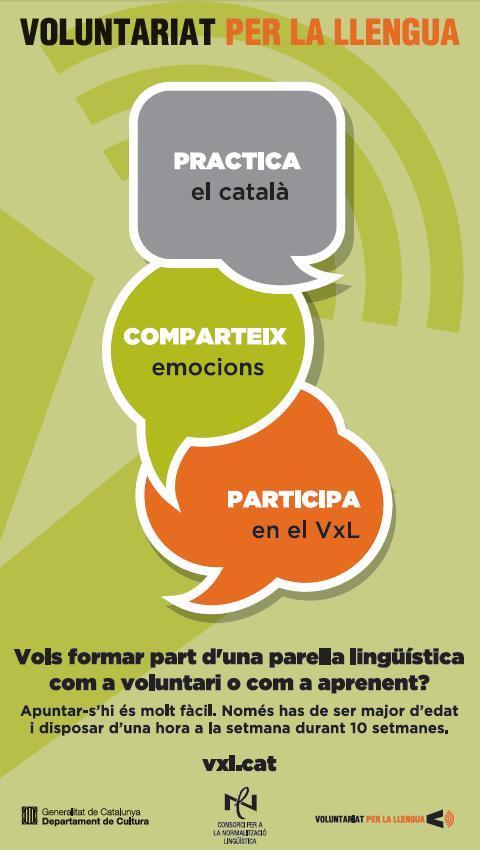 Nous materials de difusió del Voluntariat per la llengua